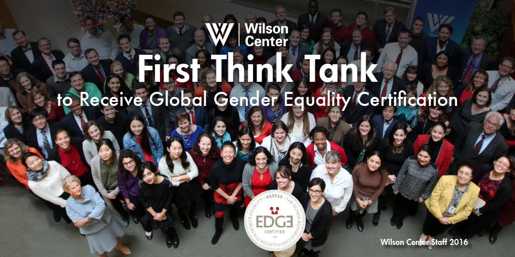 Wilson Center Becomes First Think Tank To Receive Global Gender